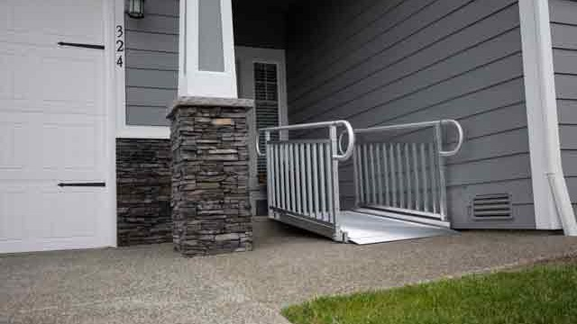 Gateway 3G Wheelchair Ramps with two-line Handrails