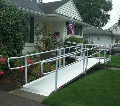 Portable wheelchair ramps handicap ramps wheelchair for Ada mobile homes