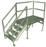 OSHA Stairs - Fully adjustable with 2-4 Steps
