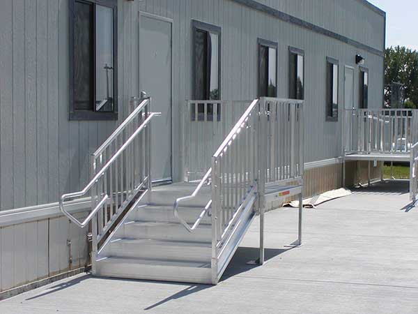 Ada stairs for sale portable aluminum stairs express ramps for Handicap stairs plans