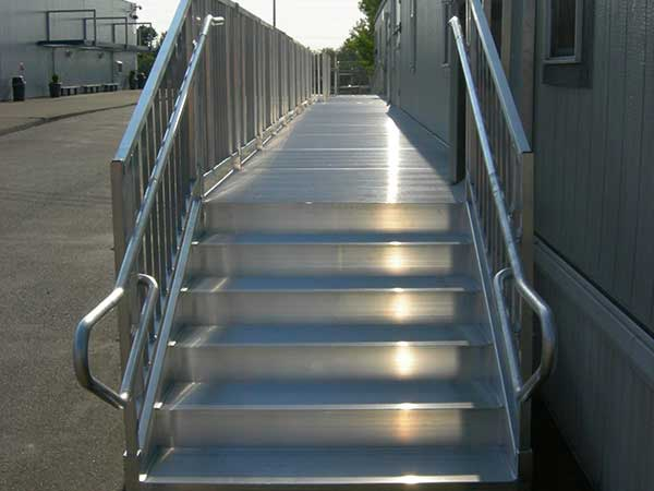Aluminum Office Trailer Stairs