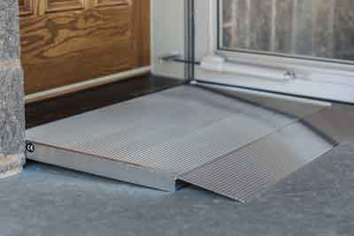 ADA Compliant portable standalone wheelchair threshold r&s & Adjustable Threshold Ramp | Aluminum Ramps for Wheelchairs