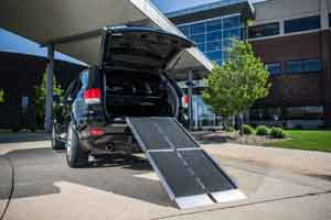 EZ-Access Trifold Portable Wheelchair Ramps for scooter handicap ramps