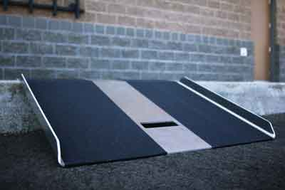 Curb Ramp for single steps and landings