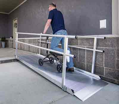 Gateway ramps by EZ Access are the perfect ramp for stairs.