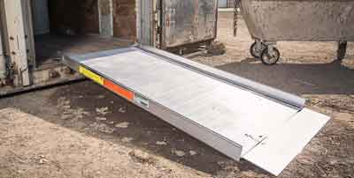Strong solid surface ramp for trailers, stairs, trucks, vans