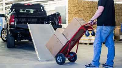Delivery truck loading ramps