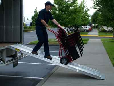 Strong Aluminum loading ramp for vans, trucks and more