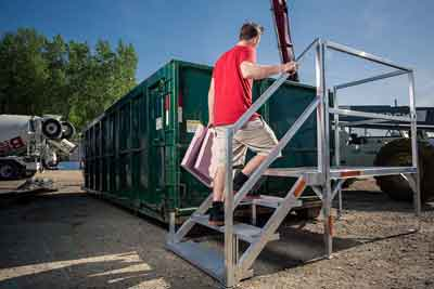 Modular Office Steps, stairs for Trailers, semi-trailers