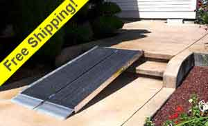 Suitcase Portable Wheelchair Ramp Advantage Series