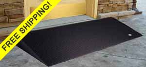Rubber Threshold wheelchair Ramps with beveled sides