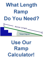 wheelchair ramp slope calculator express ramps