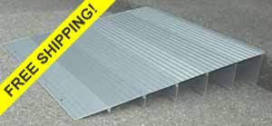 Aluminum Threshold wheelchair Ramps for home