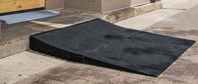 rubber wheelchair ramp threshold ramps rubber express ramps