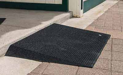 handicapped rubber curb r&s for wheelchairs or scooters : door ramp - pezcame.com