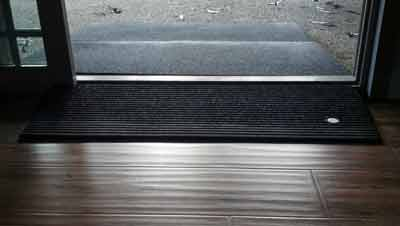 Rubber ADA Threshold Ramp for Wheelchair ramp access.
