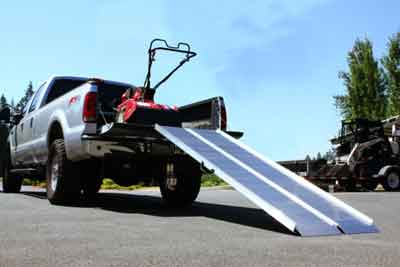 Durable, welded Aluminum loading ramp for vans, trucks and more