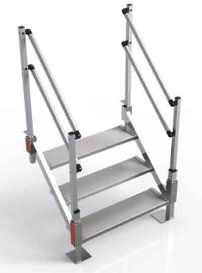 Merveilleux Aluminum Steps Attach To Decks, Stoops And Platforms.