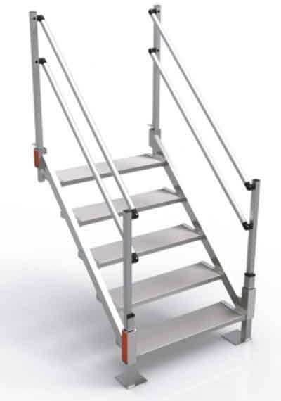 Portable Stairs With Handrail : Aluminum stairs for sale portable metal express