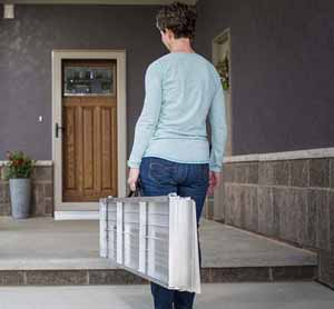 Suitcase Portable Wheelchair ramps for homes.