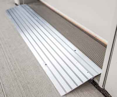aluminum threshold r&s for handicapped access & Threshold Ramps Threshold Wheelchair Ramps Door Threshold Ramps
