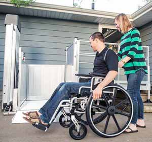 Easy to install Residential Wheelchair Lift
